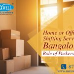 Home or Office Shifting Services in Bangalore – Role of Packers and Movers