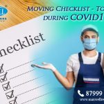 Moving Checklist – To move during COVID-19