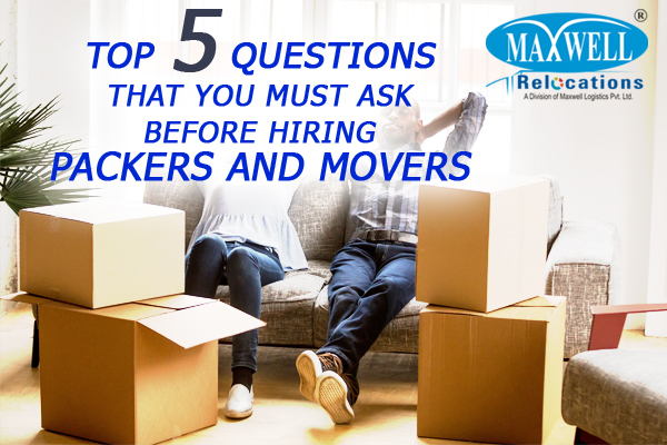 Hiring Packers and Movers for Household Goods Shifting Services
